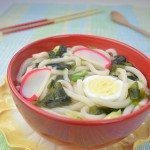 Udon Noodle Soup with Seaweed and Fish Cake