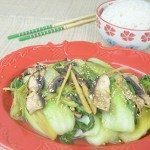 Baby Bak Choy with Portobello Mushrooms & Ginger