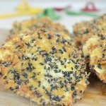 Sweet Potato Fritters in Japanese Panko with Black Sesame Seeds