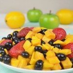 Asian Mango Fruit Salad with Lime Dressing!