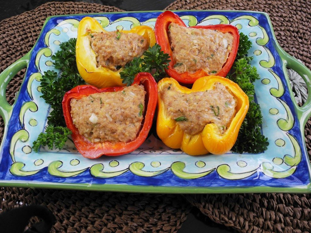 Baked Turkey in Bell Pepper