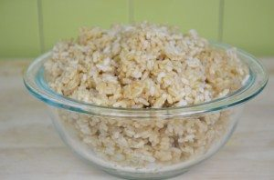 Brown Rice In Bowl Small