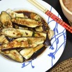 Steamed Asian Eggplant with Soy Sauce, Sesame Oil & Hot Chili Pepper Dressing