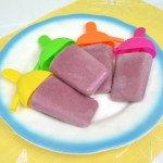 Strawberry Blackberry Banana Soymilk Popsicles