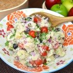 Potato Salad with Wasabi Dill Mayo Dressing