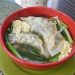 Tofu with Green Chard Dumpling Soup